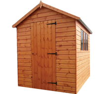 6x4 Shed supply and erect (popular)