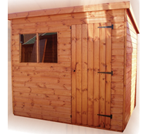 Pent Shed 7x5 supply and erect