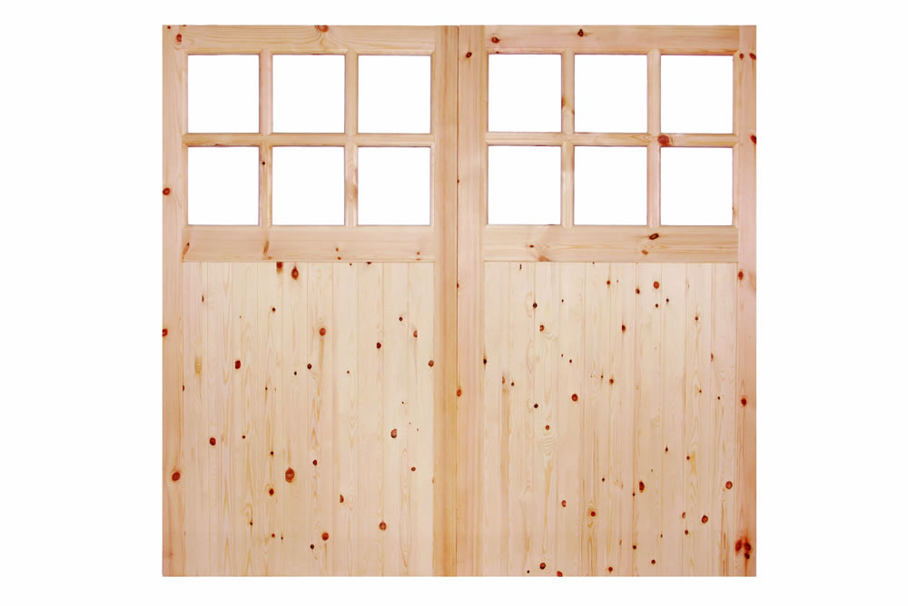 6u00276 HIGH X 7u00270 WIDE REDWOOD 301 GLAZED GARAGE DOOR