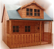 Kids Club House 8 x 10 (inc Veranda) supply & erect
