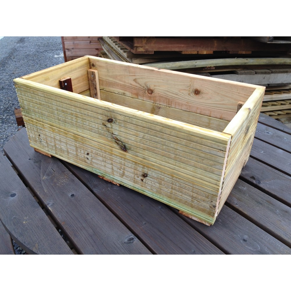 800 x 400 x 300mm decking planter assembled pre finished for Pre made timber decking
