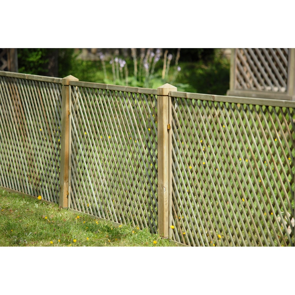 6 39 x 3 39 1830mm x 900mm lattice trellis fence pre for Lattice prevulcanizzato