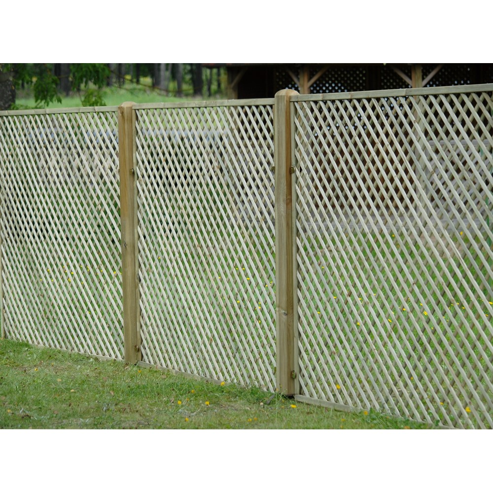 6 39 x 6 39 1830mm x 1800mm lattice trellis fence pre for Lattice prevulcanizzato