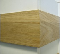 3.6m x 15 x 95 oak Bevelled MDF Veneered Skirting