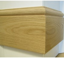 3.0m x 18 x 145 oak Taurus MDF Veneered Skirting