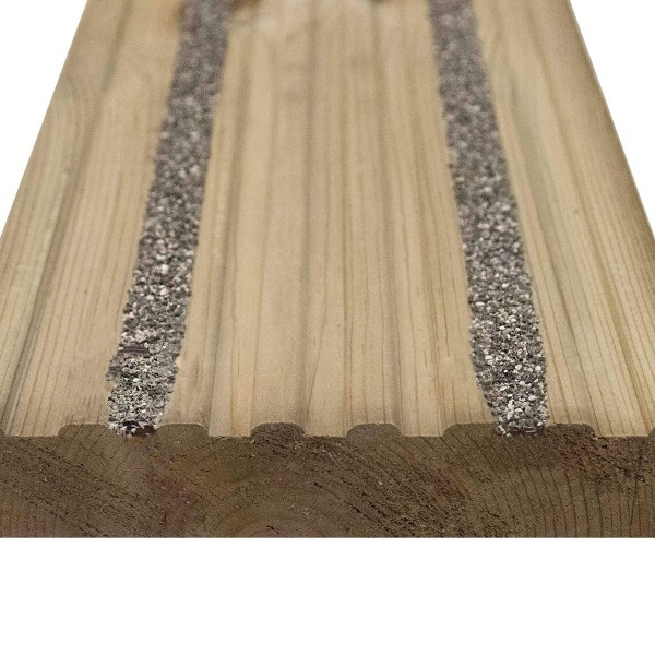 Non slip decking boards pre finished wooden for Non wood decking boards