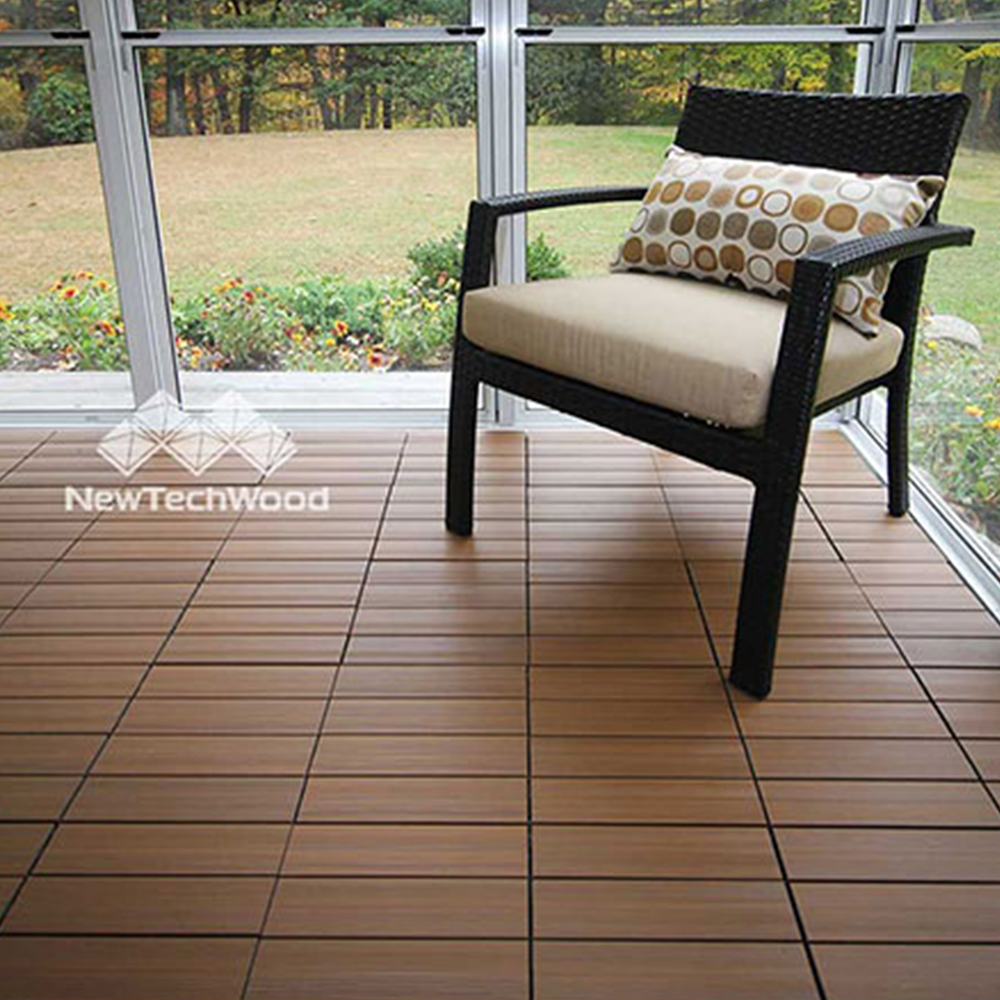 Teak decking tiles pre finished wooden flooring