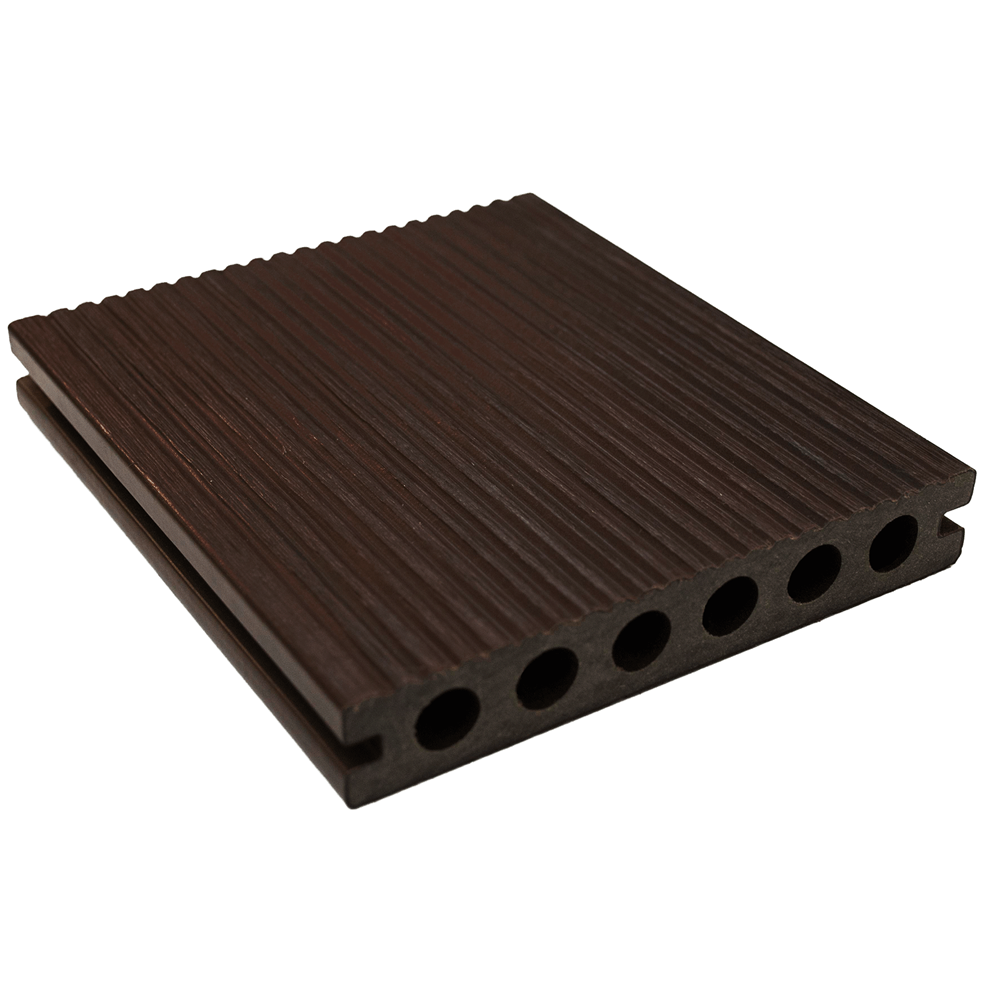 ultrashield walnut composite decking boards pre