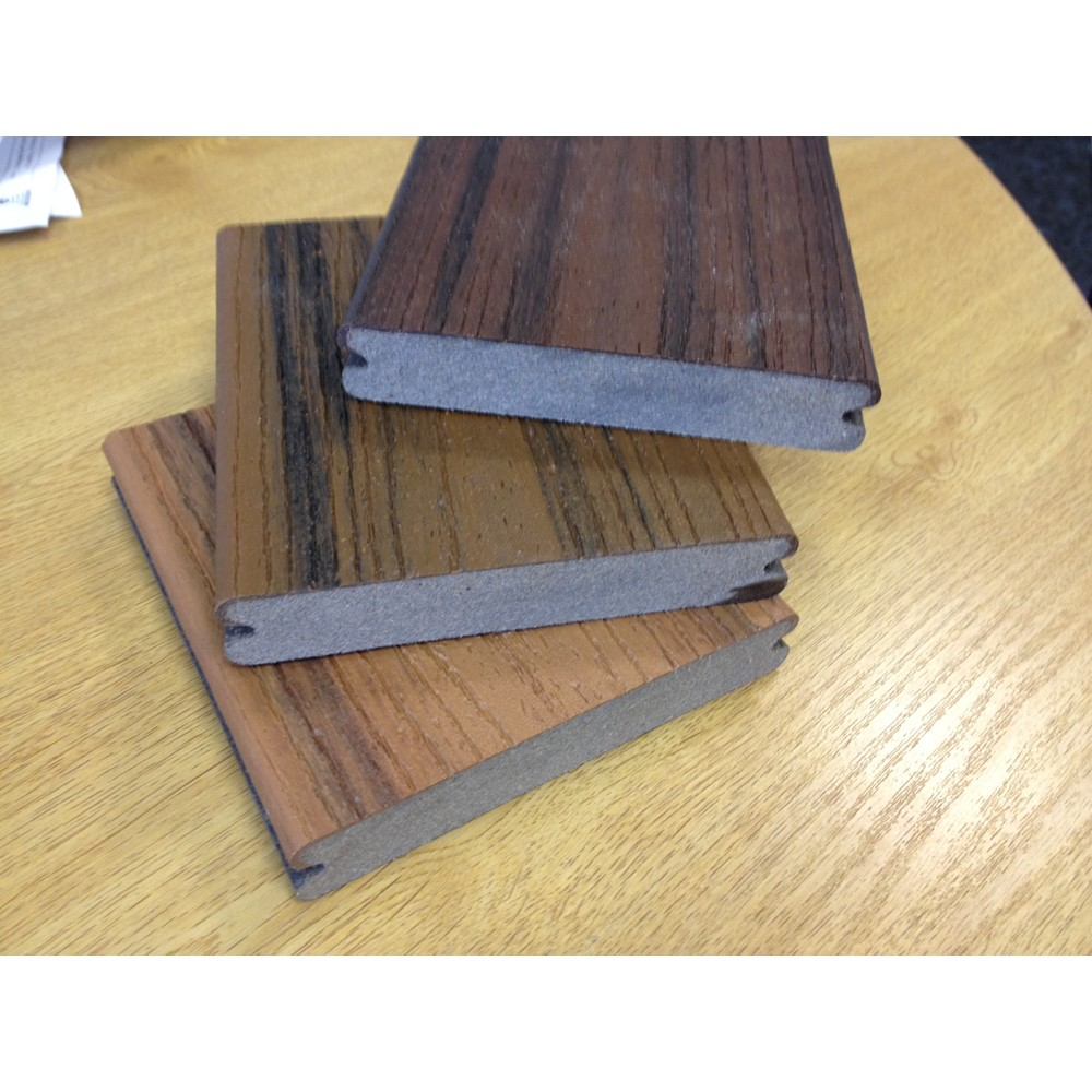Trex transcend spiced rum decking boards pre for Pre made timber decking