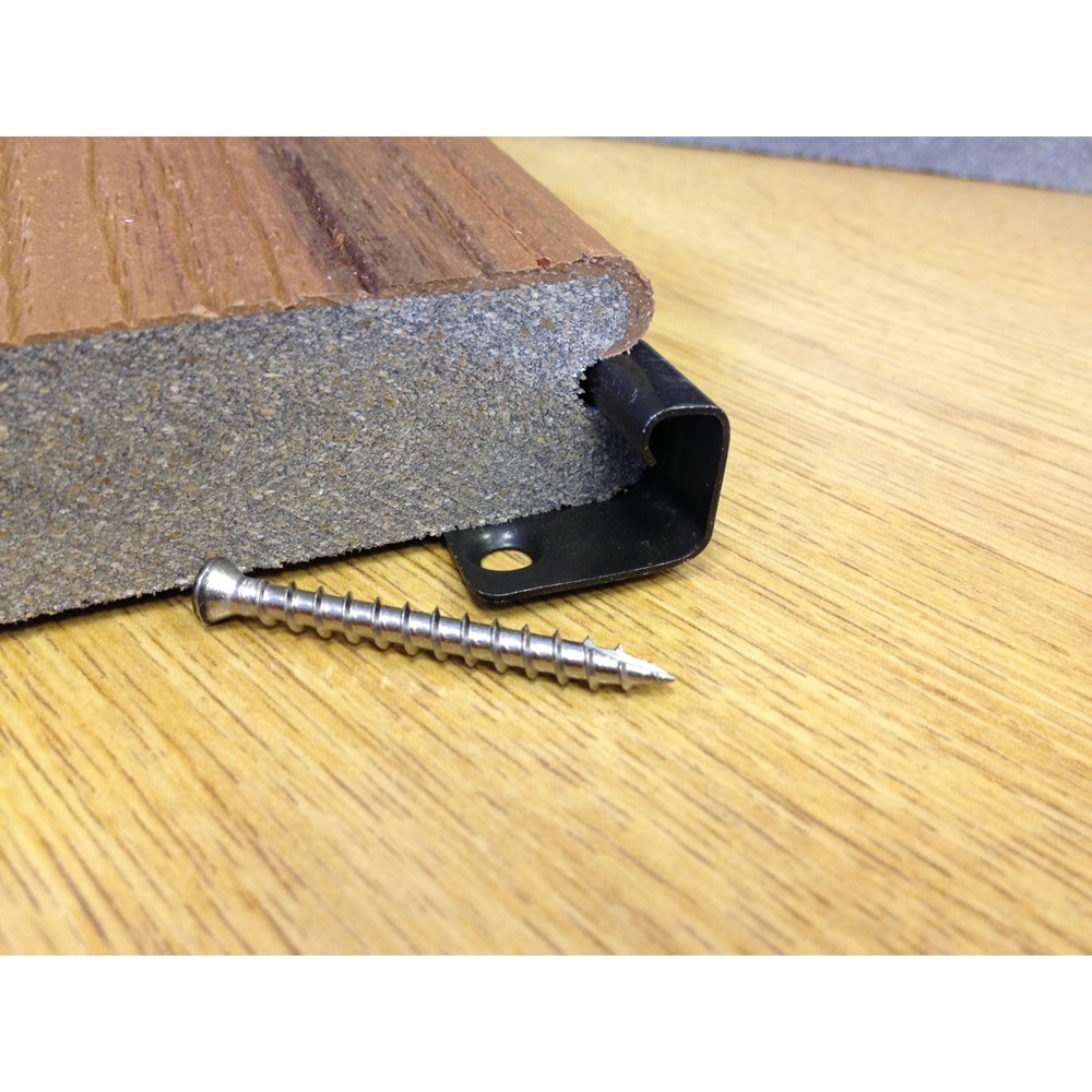 Trex starter clips pack 36 pre finished wooden flooring for Decking boards glasgow