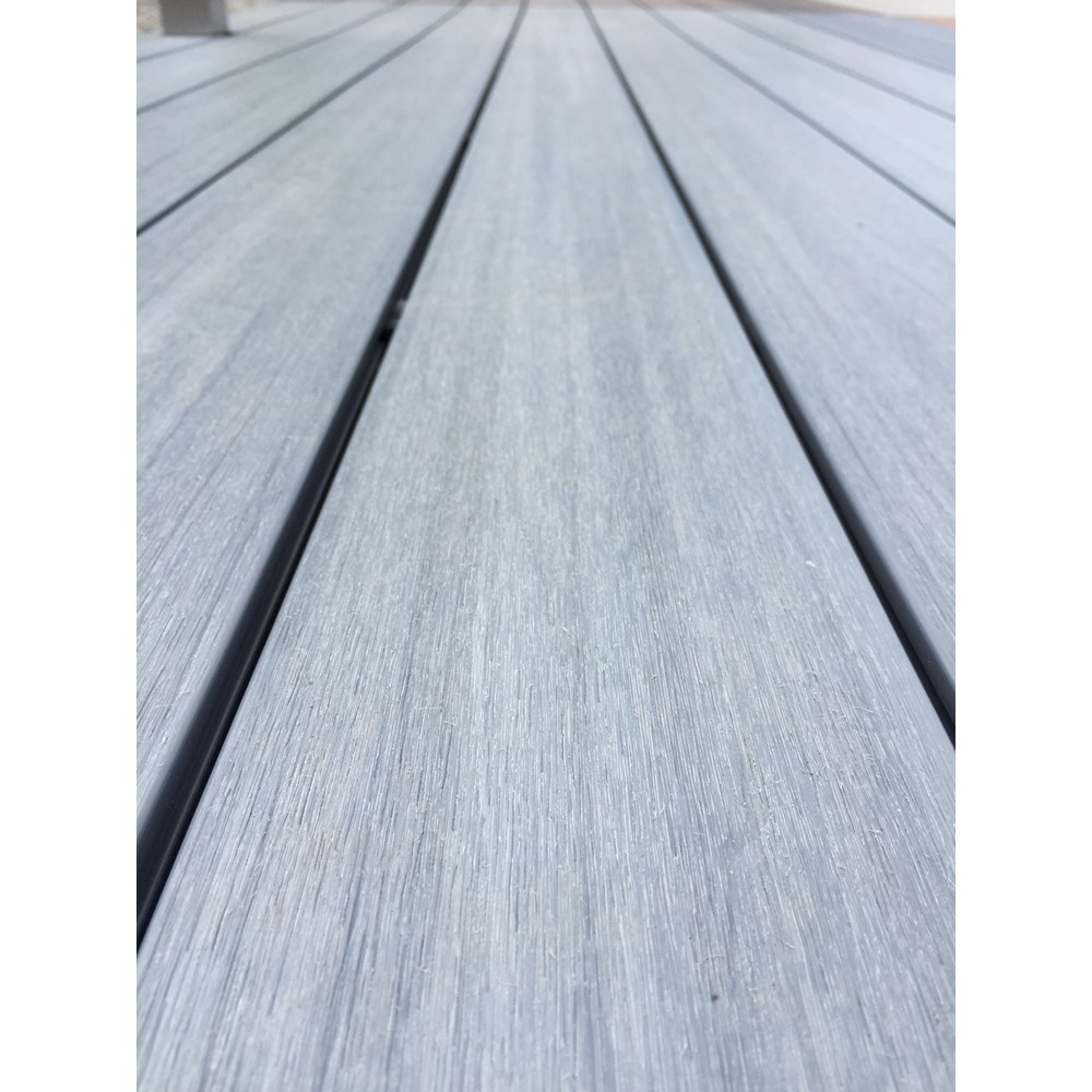 Ultrashield grey composite decking boards pre for 4m composite decking boards