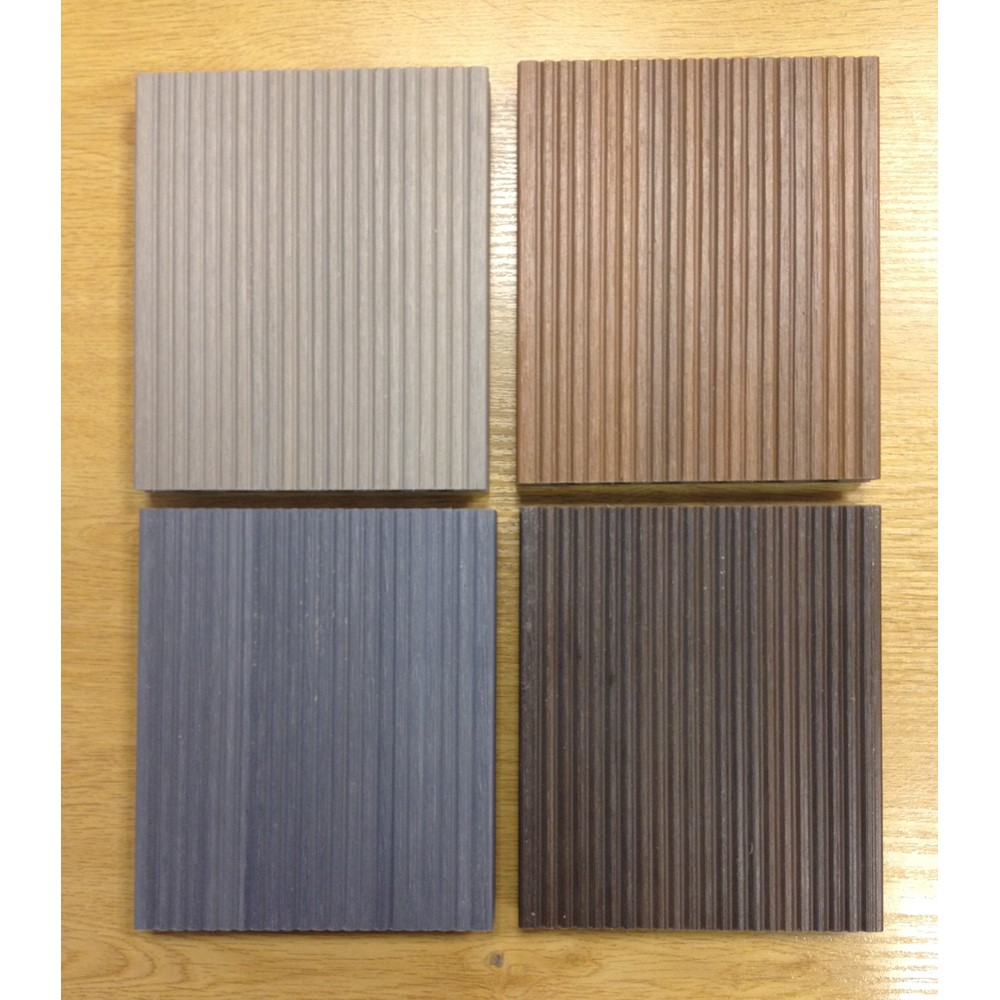 Sample box of 4 colours of utrashield reversible pre for Decking boards glasgow
